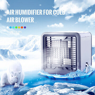 USB Mini Portable Air Conditioner Humidifier Purifier Air Cooling Fan Cooler H2