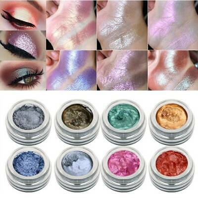 14 Color LULAA Cosmetic Glitter Highlighter Eyeshadow Cream Eye Shadow Makeup