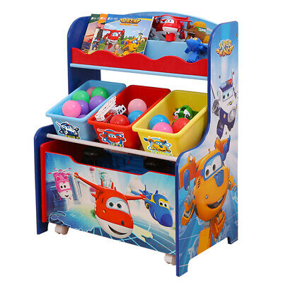 Stylehome 3 in 1 Spielzeugregal Kinderregal Set Super Wings C3DX003