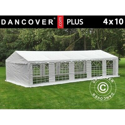 Carpa para fiestas Carpa Eventos PLUS 4x10m PE, Blanco
