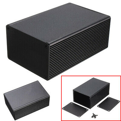 1pc 100*66*43mm Black Aluminum Electronic Project Box Instrument Enclosure Case