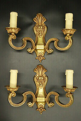 Pair Of Sconces Regence Style - Bronze - French Antique