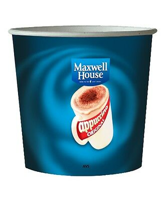 Maxwell House Cappuccino 76mm Kenco Maxpax vending In cup 7oz Incup drinks incup