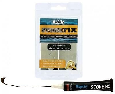 MagicEzy Stone Fix – Marble Chip Repair Epoxy– Fills and Colors Damage Fast...