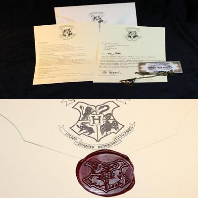 UK Harry Potter School Acceptance Letter London To Hogwarts Tickets Cosplay Gift