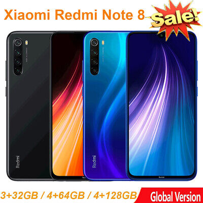 "GLOBAL Xiaomi Redmi Note 8 32GB/64GB/128GB 6.3"" Snapdragon 665 MIUI 10 Octa Core"