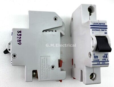 Dorman Smith 10 Amp Type 2/B 10A Single Pole Phase Mcb Circuit Breaker Llr 10T2