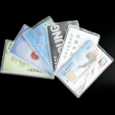 Credit Card Protector Sleeves ID Holder Shielded Card Set Business 10pcs