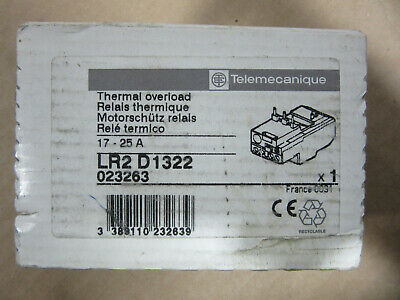 Telemecanique LR2D1322 Thermal Overload Relay 17A to 25A NEW!!! in Sealed Box