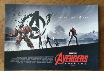 Marvel Avengers Endgame ODEON Exclusive A3 Poster Matt Ferguson Part 2 of 2 New