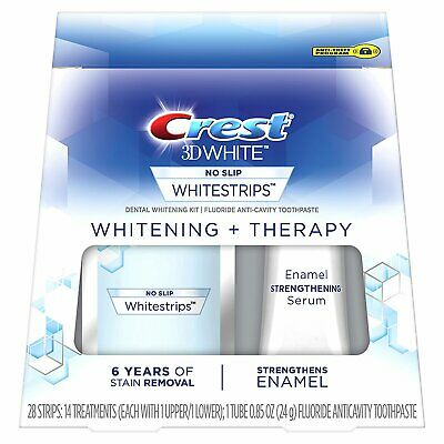 CREST3D No SLIP WHITENING + THERAPY 14 POUCHES - 28 STRIPS (NEW SEALED)