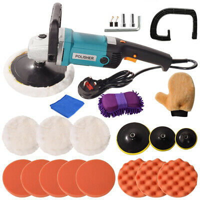Car Polisher Sander Buffer Polishing Machine Kit 1400w Variable Speed+Sponge Kit