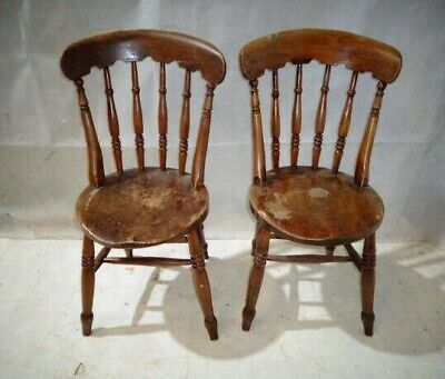 Antique Thames Valley Windsor Chairs Victorian Kitchen Chairs Vintage Dining Cha