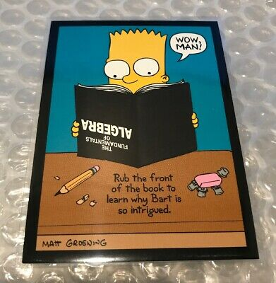 The Simpsons Dissapearing Ink Card Rare D4 Bart Simpson 1994 Series 2 Skybox