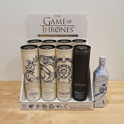 Game of Thrones Scotch Whisky Full Set of 8 Bottles (Including House Tyrell)