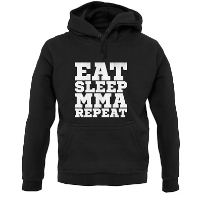 Eat Sleep MMA Repeat Unisex Hoodie - Mixed Martial Arts - Karate - Fighting