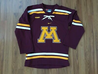 cheap for discount 1022f 87cb6 Minnesota Golden Gophers NCAA WCHA Nike Kids L (16 18) Sewn On Hockey