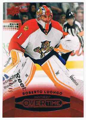 2015-16 Upper Deck Overtime Red Roberto Luongo 58/99 Florida Panthers #38