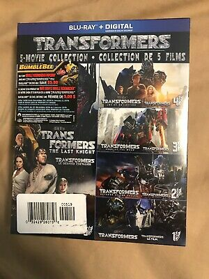 Transformers 5-Movie Collection on Blu-Ray And ITunes Digital Copy