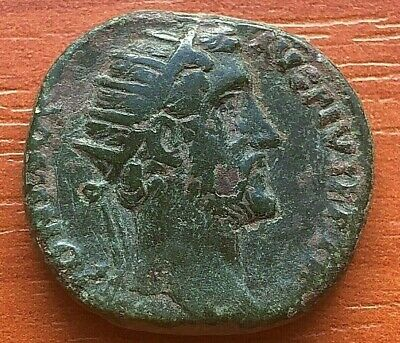 Bronze Coin of Antoninus Pius 138-161 AD AE Dupondius Ancient Roman Coin