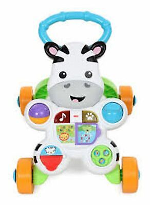 Fisher Price FISHER-PRICE ZEBRA WALKER Push Pull Along Toy BNIP