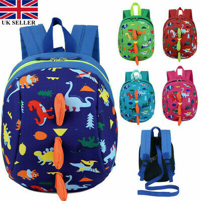 Cartoon Dinosaur Baby Toddler Kid Safety Harness Strap Backpack Bag With Reins