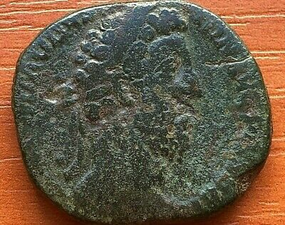 Roman Empire - Bronze Coin Commodus 179-192 AD AE Sestertius Ancient Roman Coin