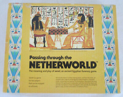 1978 Passing Through The NETHERWORLD Senet Ancient Egyptian Funerary Board Game