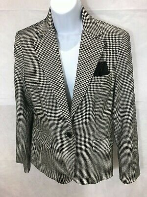 Lauren Ralph Lauren black and white houndstooth vintage jacket womens size US8