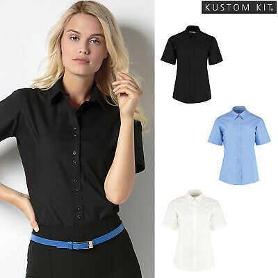 Kustom Kit Womens Continental Blouse 3//4 Sleeved Shirt