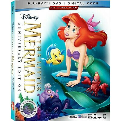 THE LITTLE MERMAID  Blu-ray/Digital (CASE,COVER,CODE,& ALL DISC)