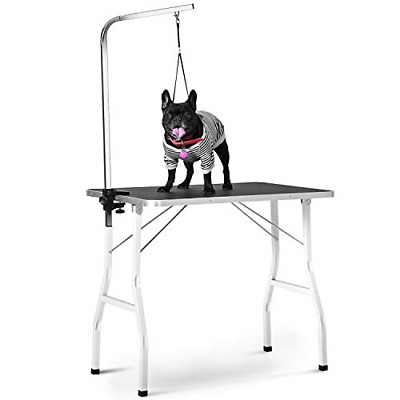 Pet Grooming Table Small,JULYFOX 30 inch Folding Dog Grooming Table with Arm 220
