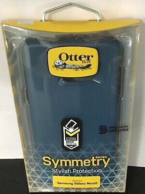 New Geniune OtterBox Symmetry Case for Samsung Galaxy Note 5, Bespoke Way (Blue)