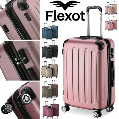 Koffer Flexot 2045 Hartschalenkoffer Trolley Kofferset Reisekoffer M-L-XL-Set