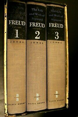 3 Volume Box Set THE LIFE AND WORK OF SIGMUND FREUD (1953) by Ernest Jones M.D.