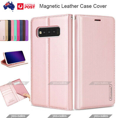 For Samsung Galaxy S10 Case Flip Magnet Leather Wallet Card Holder Cover Note 9