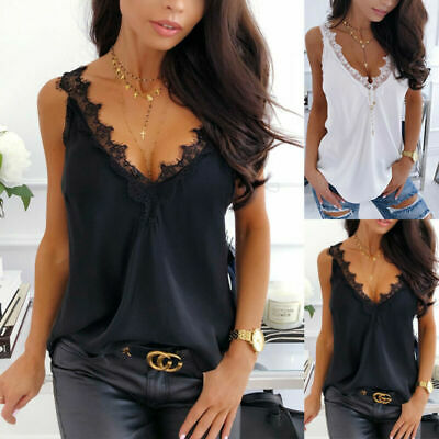 Women Camisole Lady Sleeveless Tank Tops Summer Loose Blouse Solid Color Vest