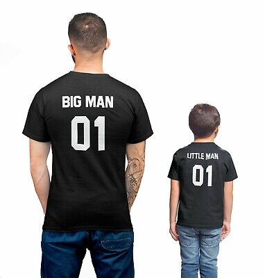 9e31284c Big Man & Little Man Shirts SET Father Son Tees Family Daddy and Me Fathers  Day