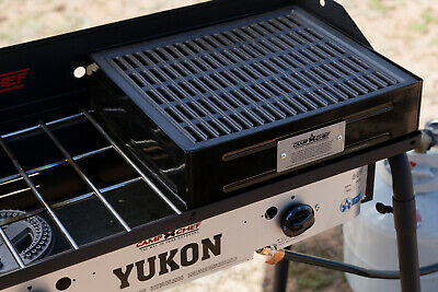 Camp Chef Barbecue Box with Seasoned Cast Iron Cast iron grill plate is Grate