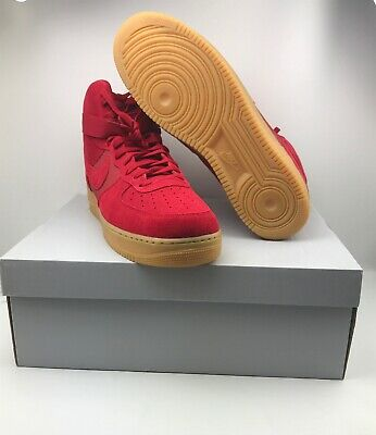 NEW MEN'S NIKE AIR FORCE 1 HIGH '07 LV8 ATHLETIC SHOES 806403-601 RED Sz 14 B2