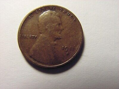 1911 - S Lincoln One Cent.  Looks To Be In F+ Condition