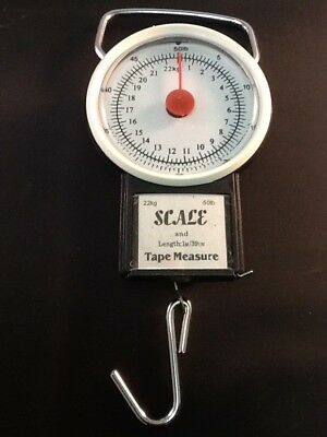 One Portable Baggage Travel Scale Luggage Hanging Tape Measure Bag Weight Lb Kg