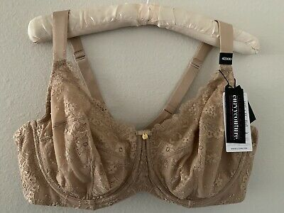 bd253cc84a5 NWT 42DDD Curvy Couture Everyday Glamour Lace Beige Nude Bra Full Figure  1207