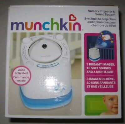 (Lot of 4) Munchkin Nursery Projector And Sound System, White #C3 NEW IN BOX