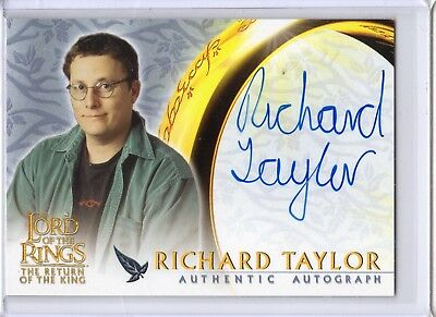 Lord of the Rings Return King Autograph Card Richard Taylor WETA Workshop