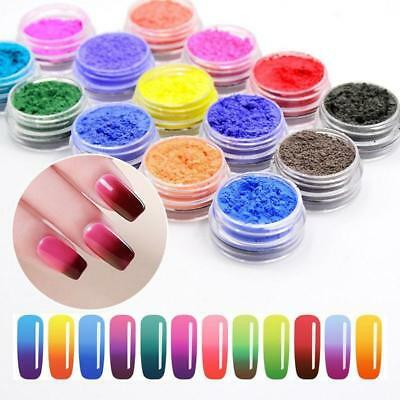 Nail Art Powder Manicure Thermochromic Pigments Thermal Color Change Temperature