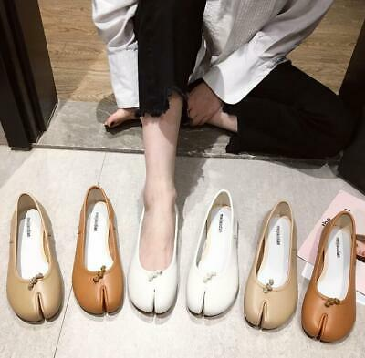 Womens Ladies Slip On Leather Loafers Casual Flats Boat Shoes Dolly Pumps Size