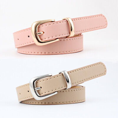 Women's Adjustable Skinny Belt Buckles Jeans Waistband Waist Belts Band