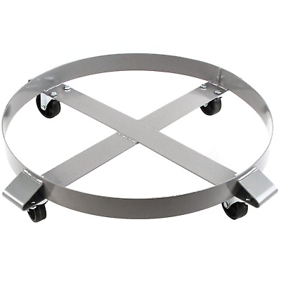 Heavy Duty Drum Dolly 1000 Pound - 55 Gallon Swivel Casters Wheel Steel Frame