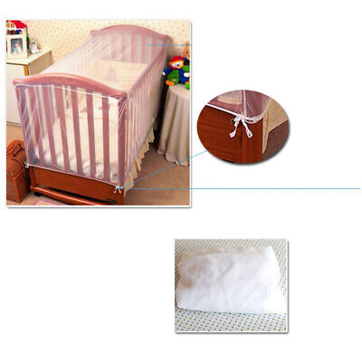 Baby Cot Bed Crib Insect Mosquito Net Cover Curtain Netting Protects 136x68x68CM